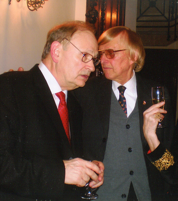 With Peter Feuchtwanger in London, 2009